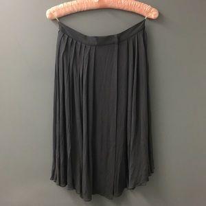 Prada grey silk wrap around skirt